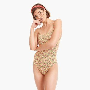 NWOT J.Crew Liberty Yellow Floral Bathing Suit